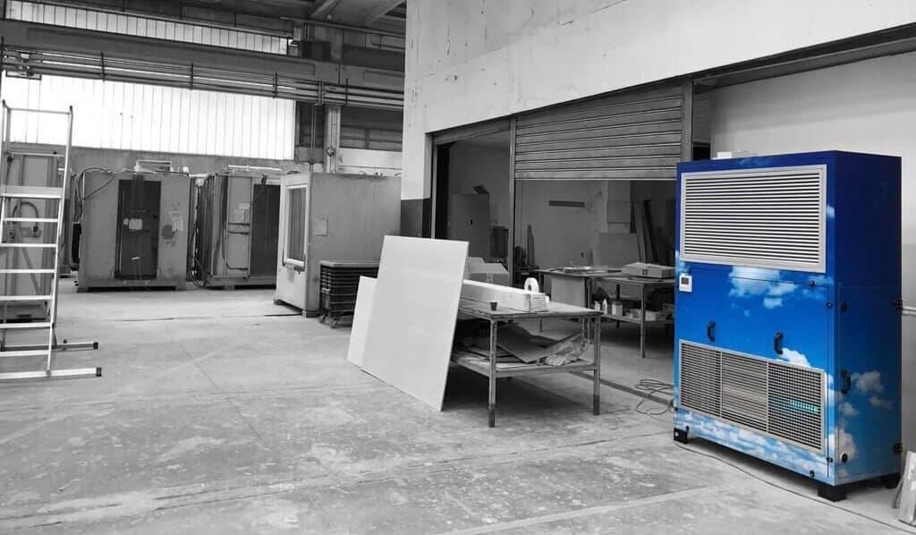 Ariabox-climatizzazione industriale-nuvole design-Punto Service Brescia