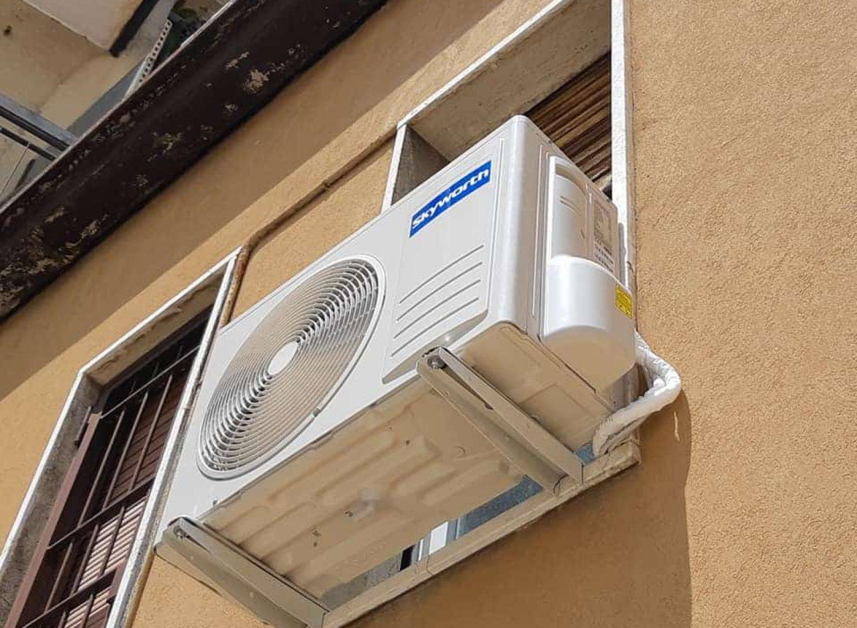 climatizzatore un. esterna particolare installazione
